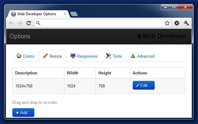 Web Developer extensión de Chrome para SEO