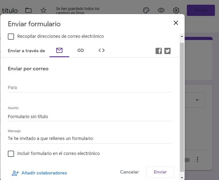 Enviar Google Forms