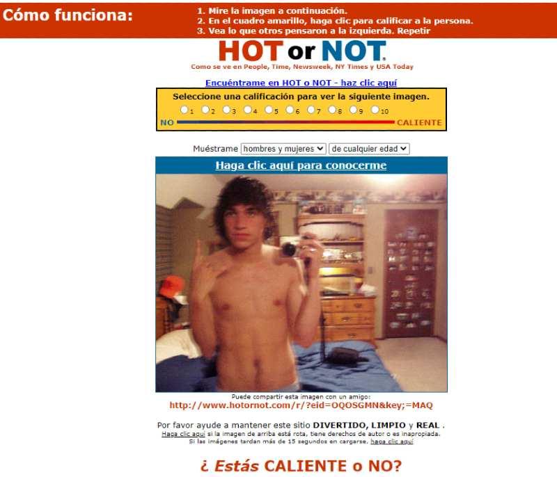 web social HotOrNOT