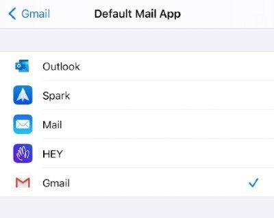 Email en iOS