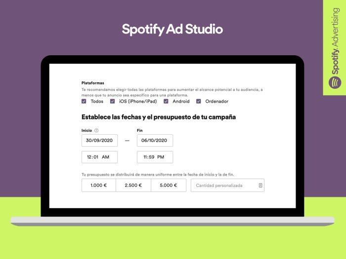 Plataforma publicidad Spotify
