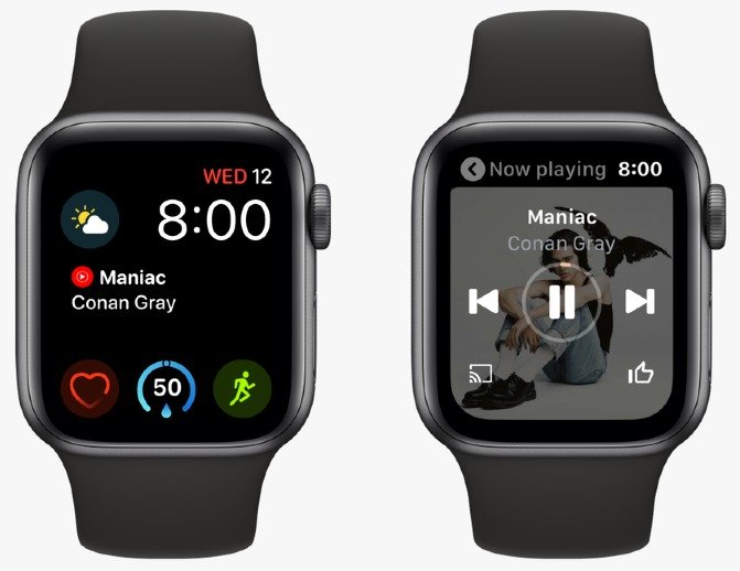 YouTube Music para Apple Watch