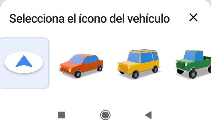 Selección de coches Google Maps