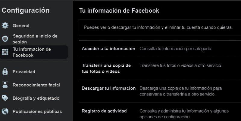 Información descargar vídeos fotos