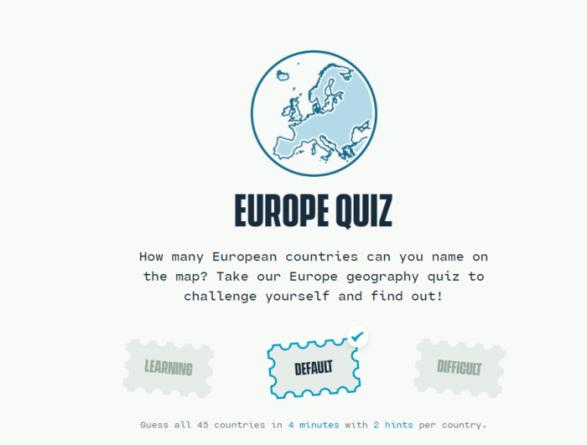 Europe Geography Quiz juego de navegador