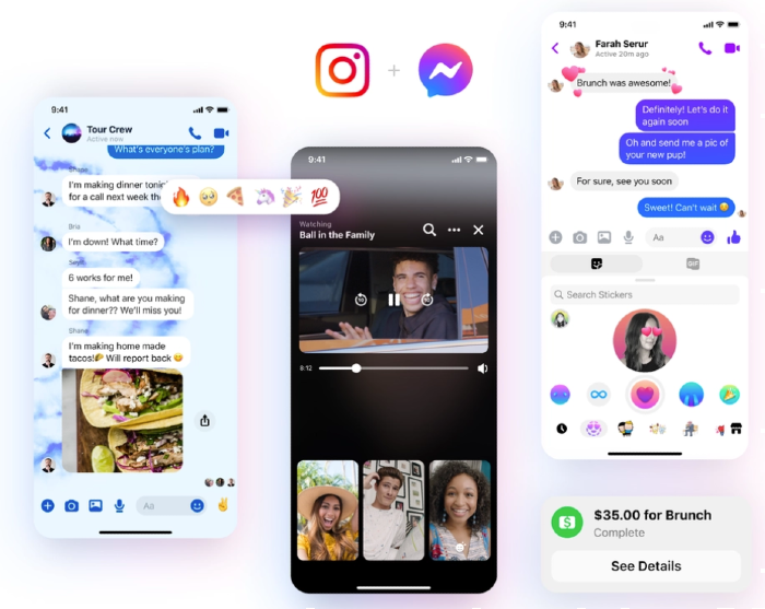 Integración Messenger e Instagram