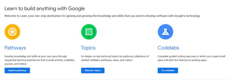 Así es LEARN la nueva página de recursos para desarrolladores de Google