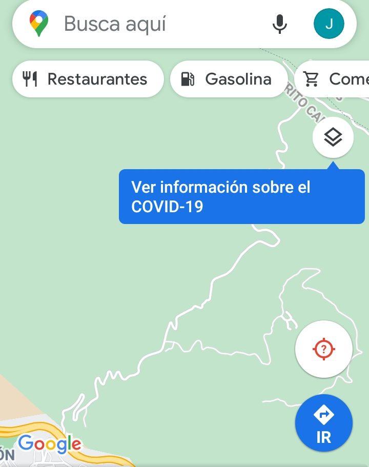 Capas Google Maps covid-19