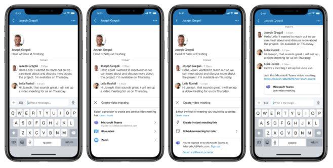 LinkedIn videollamadas mensajería