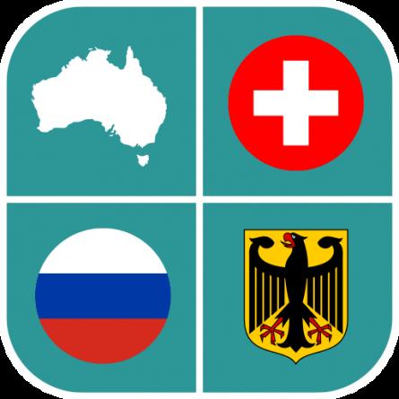 Quiz con escudos y banderas para Android