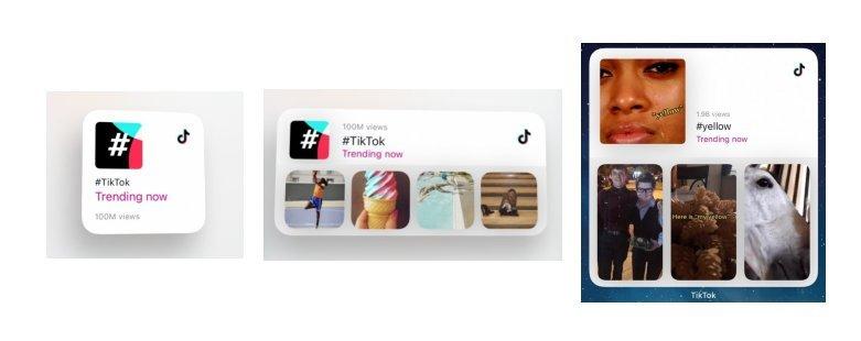 TikTok iOS 14 widgets