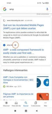 AMP en Google Search