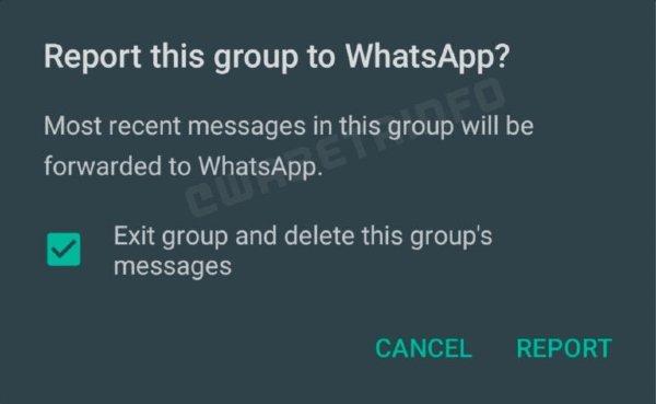 Reportar WhatsApp chat grupal