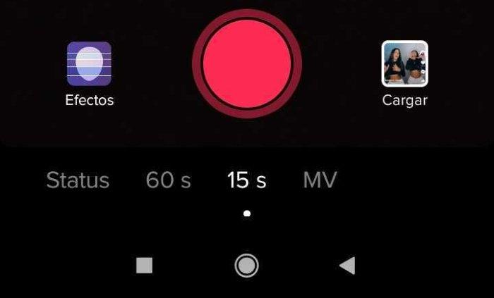 Botón grabar vídeo