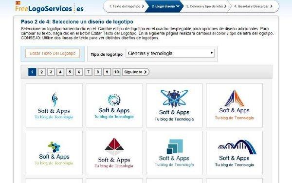 Free Logo Services para crear logotipos gratuitos