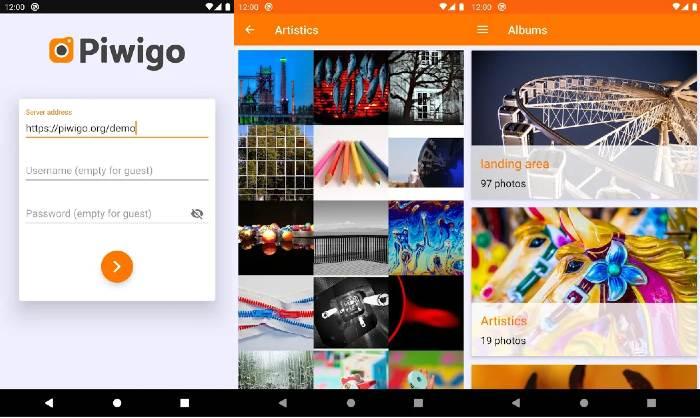 Piwigo App guardar fotos Google