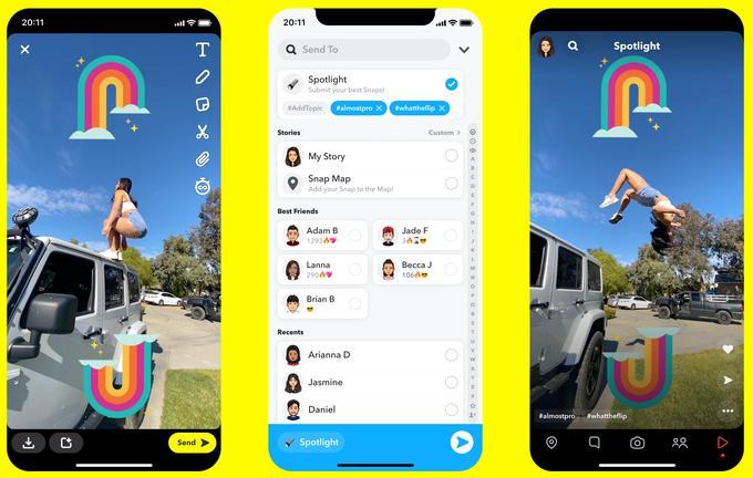 Snapchat Feed Spotlight TikTok