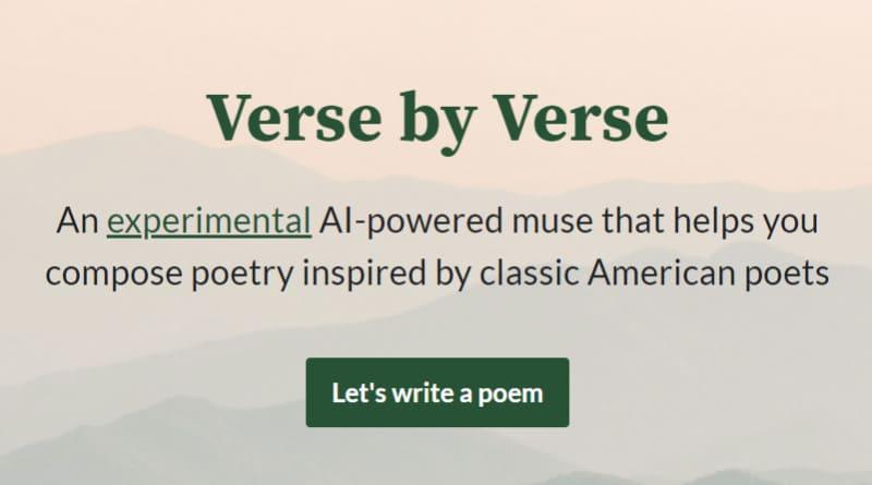 Verse by Verse IA de poesía