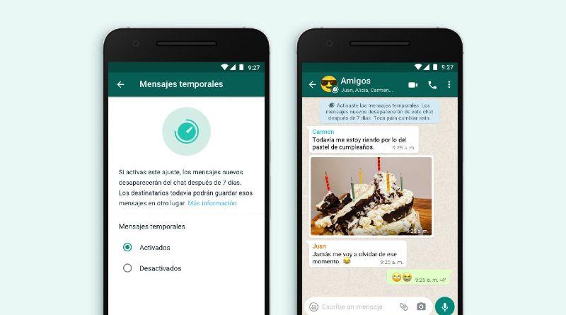 WhatsApp temporales