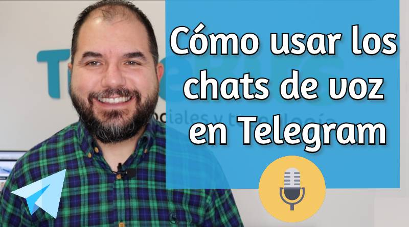 Chat de audio en Telegram