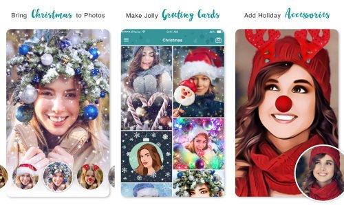 app para crear una postal navideña