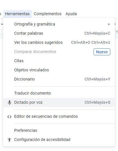Herramientas de Google Docs
