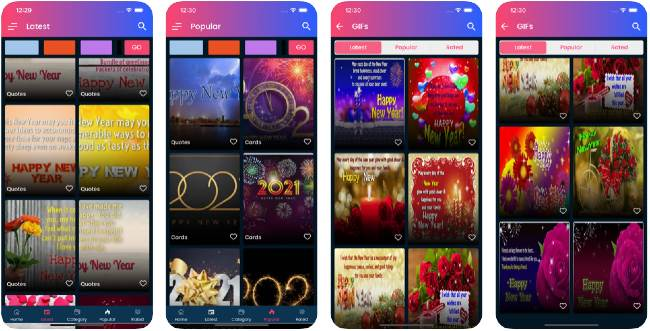 Happy New Year apps