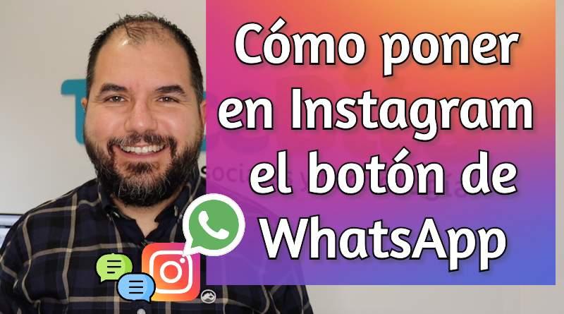 Instagram contactar WhatsApp