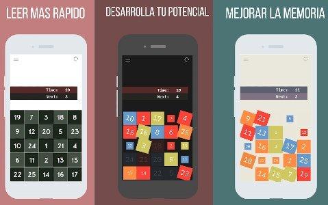 Aplicación móvil lectura veloz comprensión