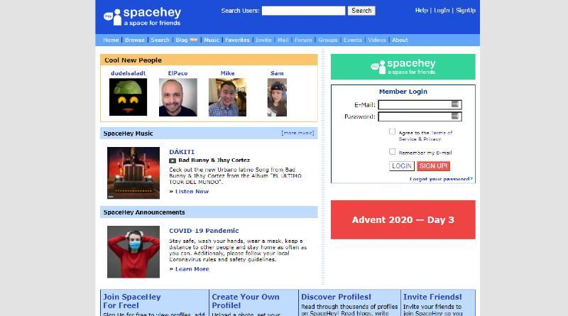 Spacehey nueva red social