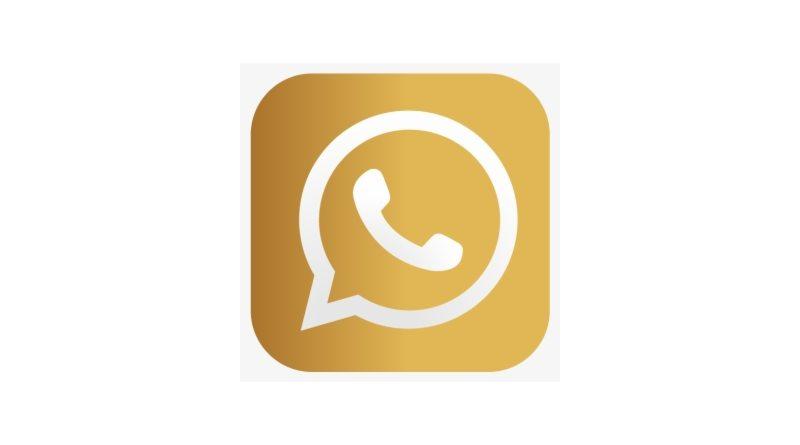 icono de WhatsApp Dorado