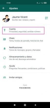 Pasos para eliminar una cuenta de WhatsApp