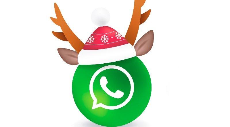 WhatsApp navideño nova launcher