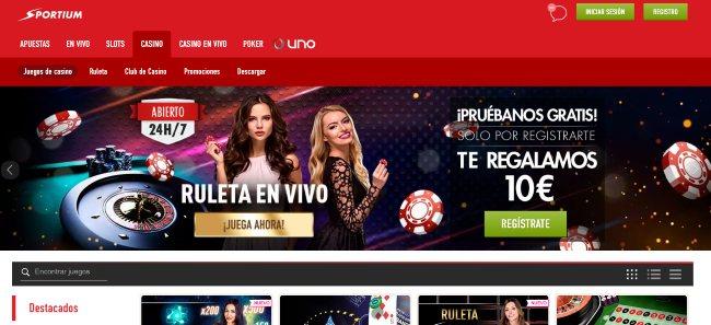 Casino online Sportium.