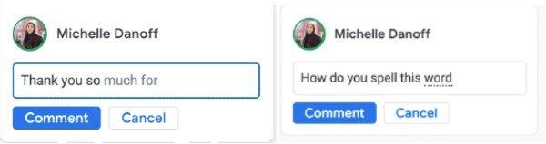 Comentarios automáticos Google Docs