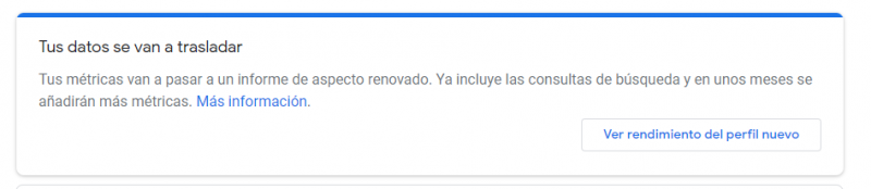 Nuevas Métricas de Google My Business