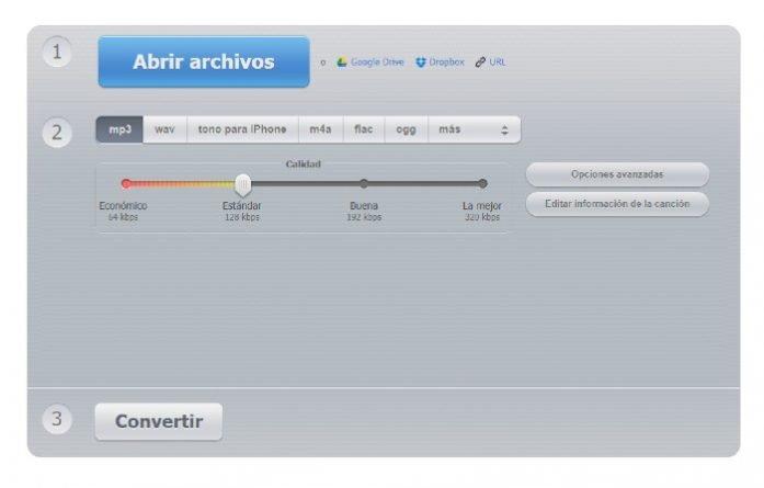 Aplicación de navegador para cambiar el formato de los vídeos