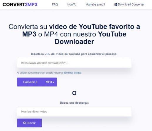 Convert2MP3 aplicación para cambiar formato de vídeo