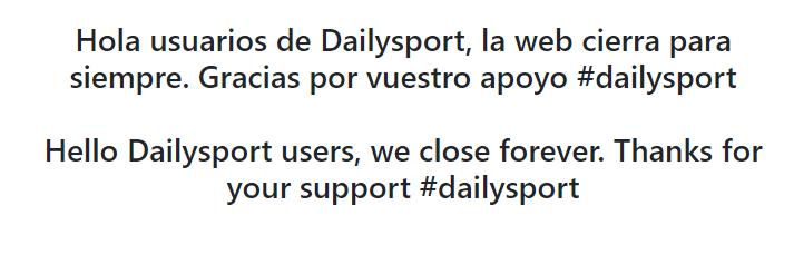 Mensaje de cierre de Dailysports