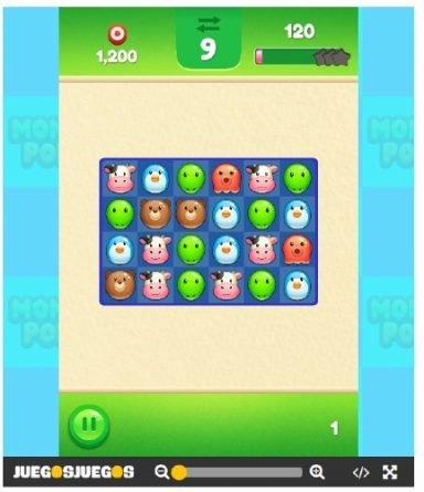 Momo Pop alinear tres piezas, juego para niños