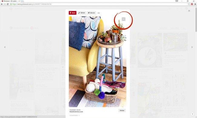 Buscador visual de Pinterest