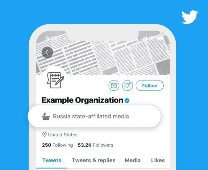 Twitter etiqueta gubernamental