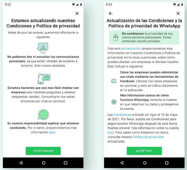 WhatsApp cambia condiciones de uso