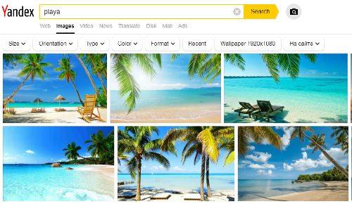Buscador de imágenes de Yandex
