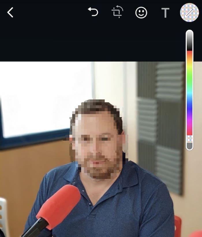 Pixelado con WhatsApp