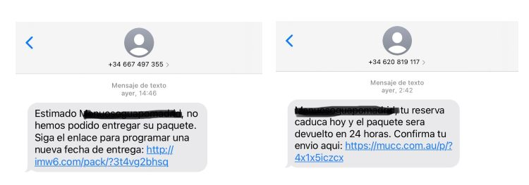 Mensaje spam