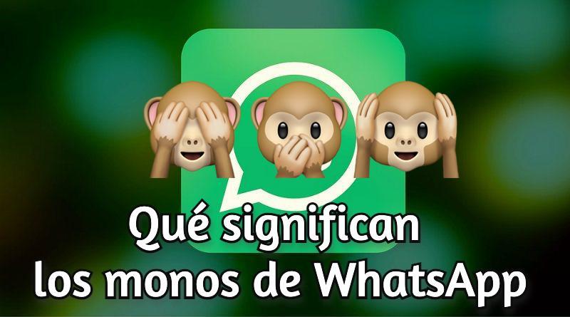 Emoji monos sabios WhatsApp