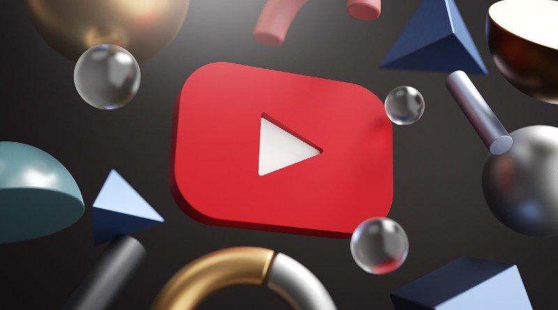 YouTube logo con formas