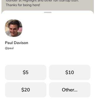 Enviar dinero Clubhouse
