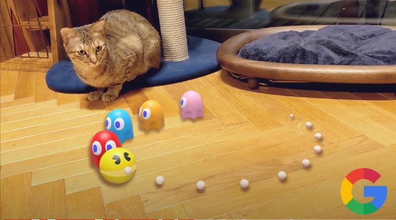Pac Man realidad aumentada Google